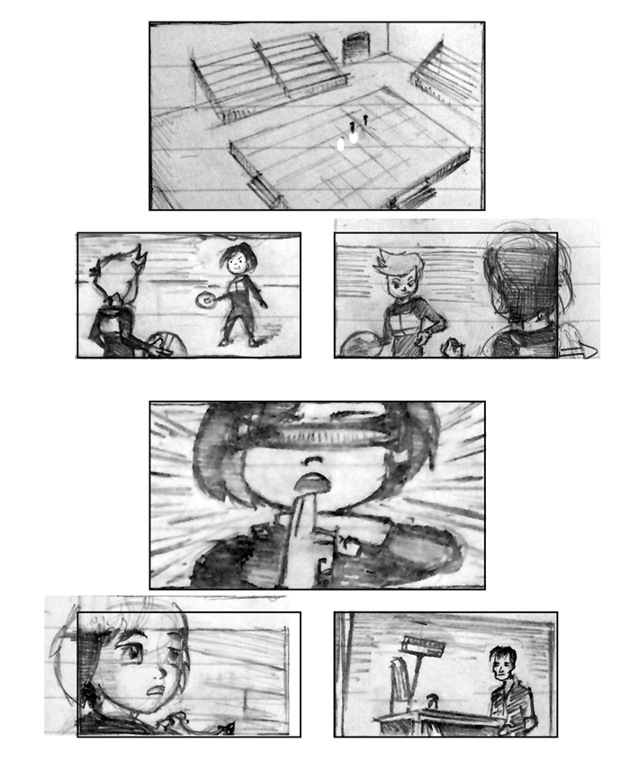 Super Ricochet Storyboards Rough 1