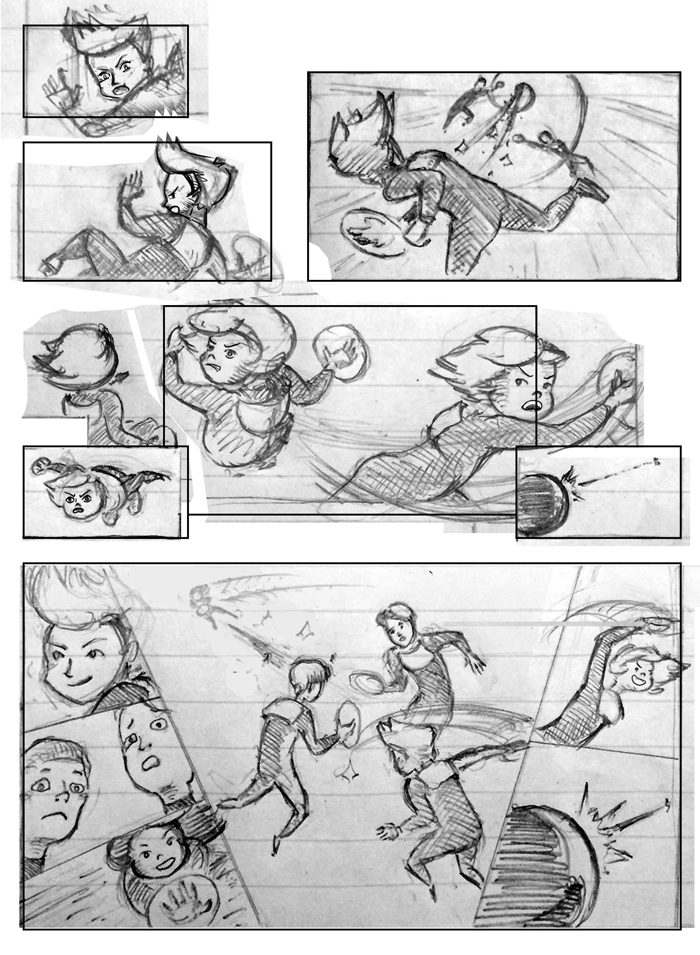 Super Ricochet Storyboards Rough 5