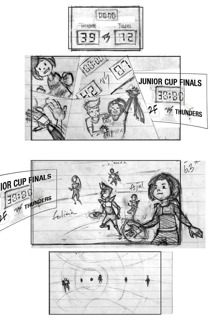 Super Ricochet Storyboards Rough 6