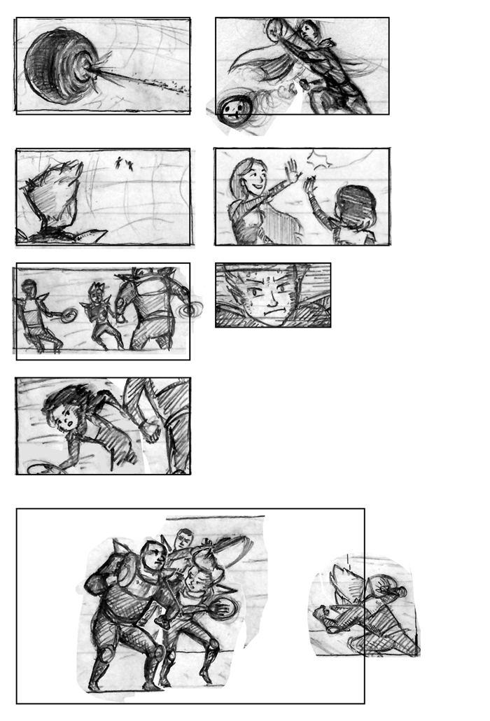 Super Ricochet Storyboards Rough 8