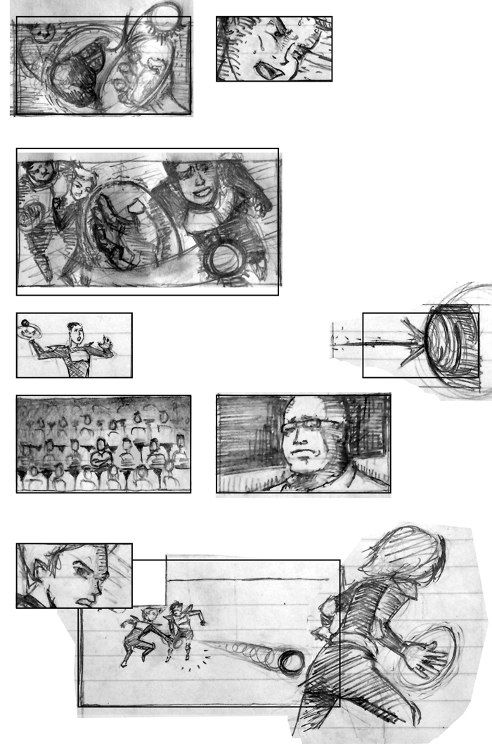 Super Ricochet Storyboards Rough 9